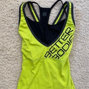 Women's Better Bodies Tank Top S w/built in bra